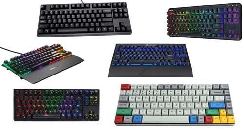 Distintos tipos de teclados