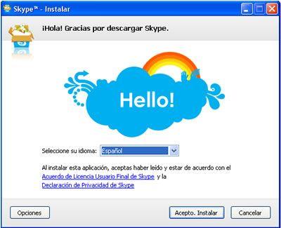 Instalar Skype paso 3