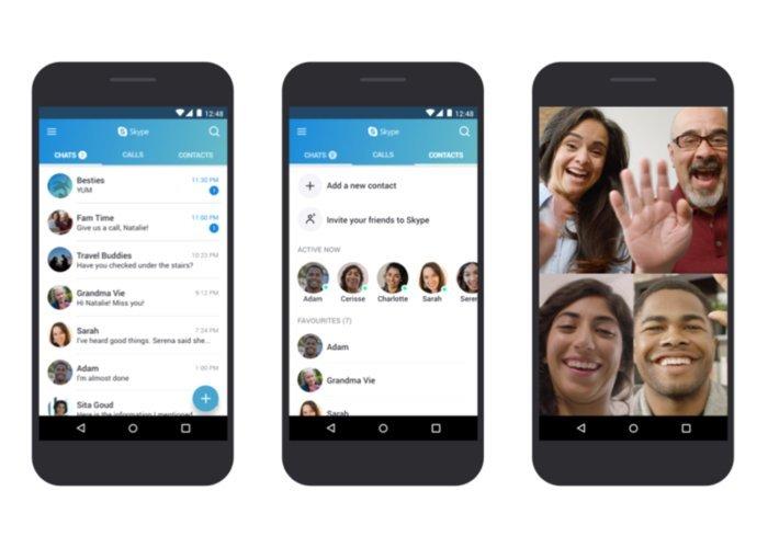 Resultado de imagen para android skype