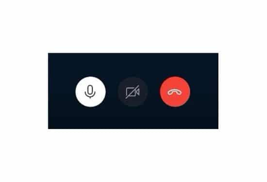 Botones de control de Skype