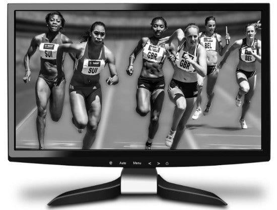El monitor de la computadora