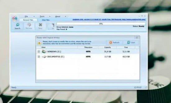 Recuperar archivo con Undelete 360