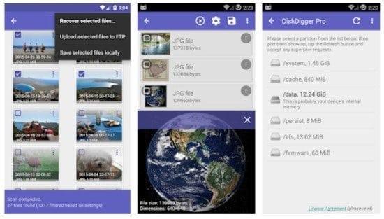 Recuperar fotos borradas con DiskDigger en Android