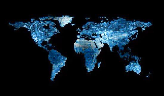 Mapa del mundo en pixeles