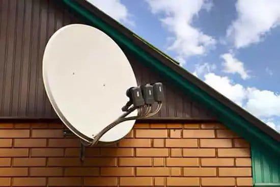 Antena de conexión a internet por satélite