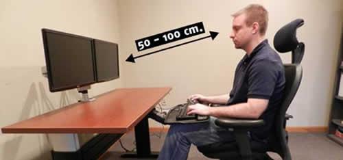 Cual es la posición correcta del monitor