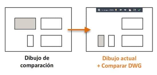 Comparación de dibujo DWG en Autocad
