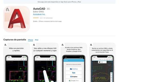 Descargar Autocad para teléfonos