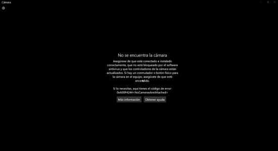 Windows no detecta cámara web