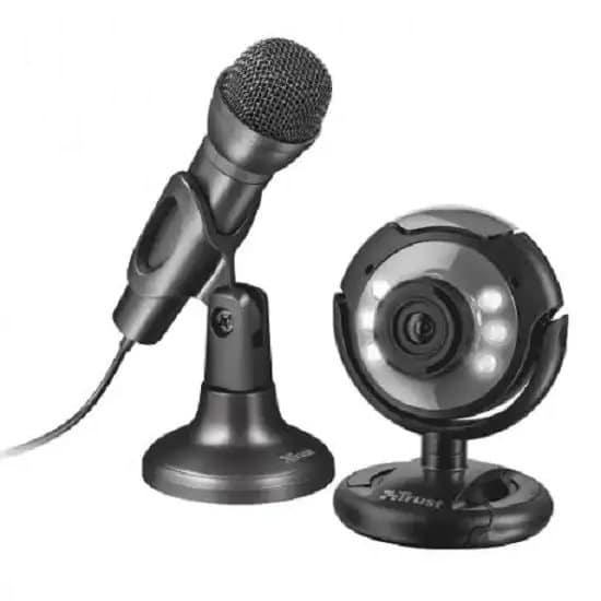Cámara web con micrófono externo