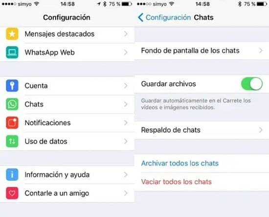 Pasos para eliminar un contacto de WhatsApp en iPhone