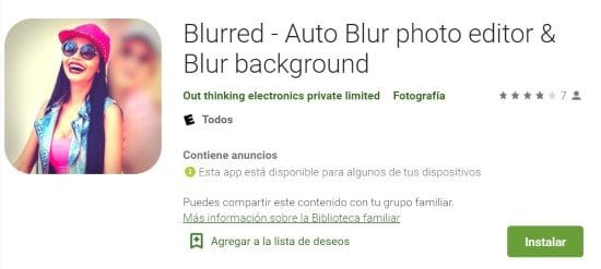 Difuminar foto con Blurred