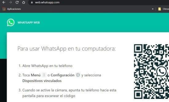 WhatsApp Web desde el navegador web