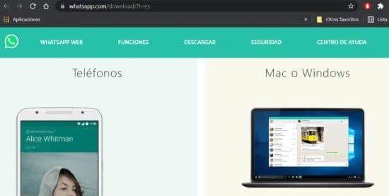 Descargar WhatsApp Web para computadoras