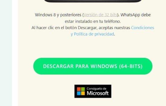 Descargar WhtasApp Web para Windows