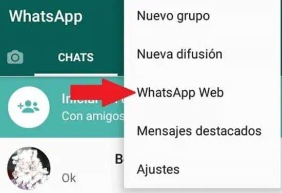 Habilitar WhatsApp Web desde el teléfono