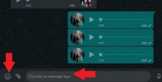 Enviar mensaje en WhatsApp Web