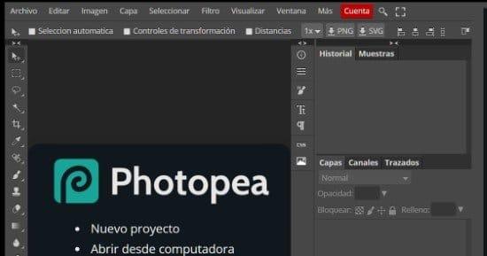 Usar Fotoshop en el navegador web