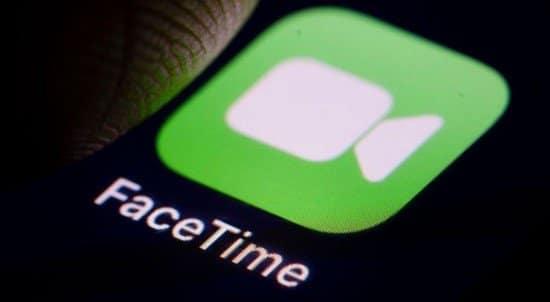 Logo de FaceTime en pantalla de teléfono