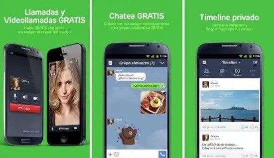 Aplicación Line para Android