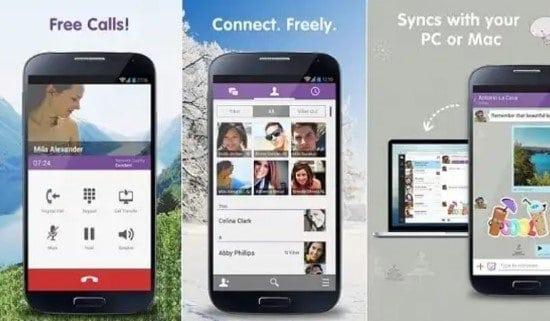 Aplicación Viber para Android