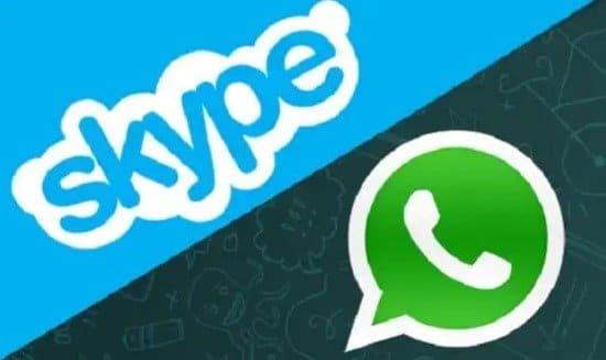 WhatsApp versus Skype