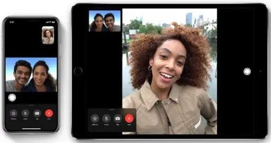 Personas usando FaceTime en videoconferencia