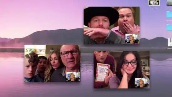 Grupo de personas usando FaceTime en Mac