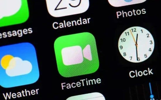 Logo de FaceTime en iPhone