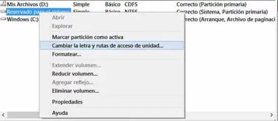Acceder a la partición reservada de Windows