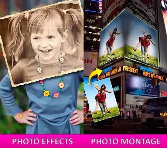 Crear collage de fotos con Photo2fun