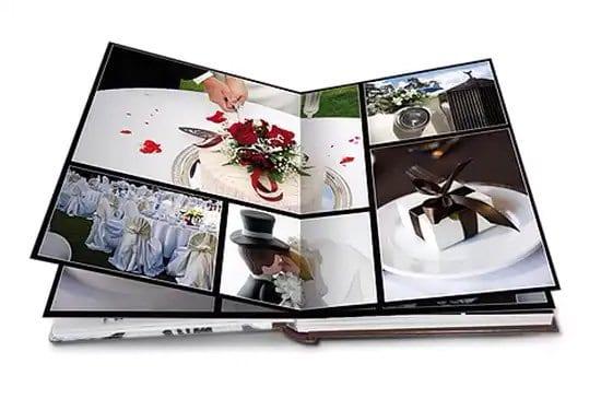 Creación de álbum de fotos de casamiento