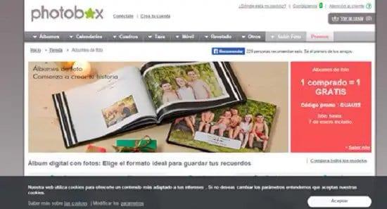 Crear álbum de fotos con Photobox