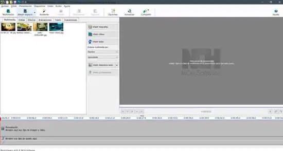 Añadir fotografías a un video en PhotoStage