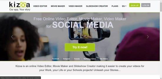 Crear video con Kizoa