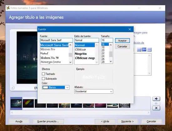 Elegir tipografía para el título del video