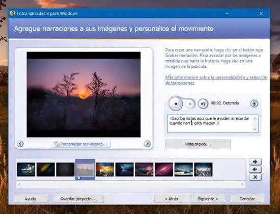 Añadir efectos a las fotos para el video