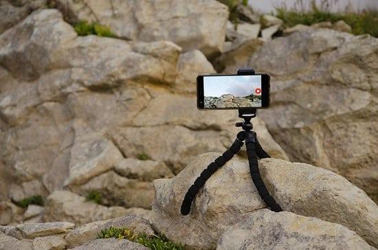 Uso de trípode para filmar video