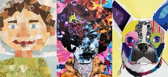 Collage artístico hecho con fotos