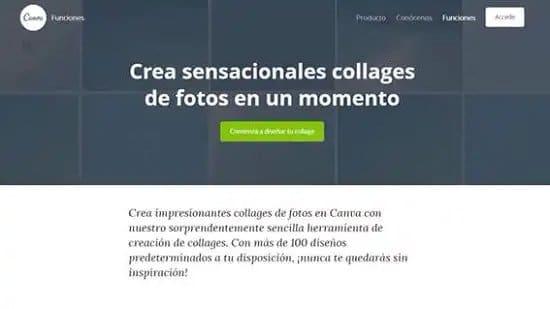 Crear collage con fotos con Canva