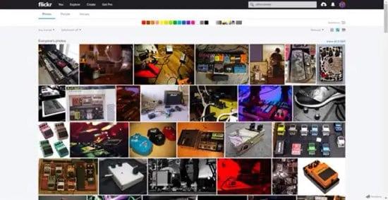Pantalla de Flickr con imagenes