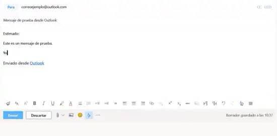 Añadir emojis y adjuntos a correo en Outlook