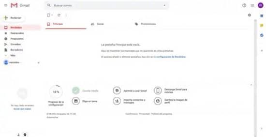 Crear correo electrónico en Gmail