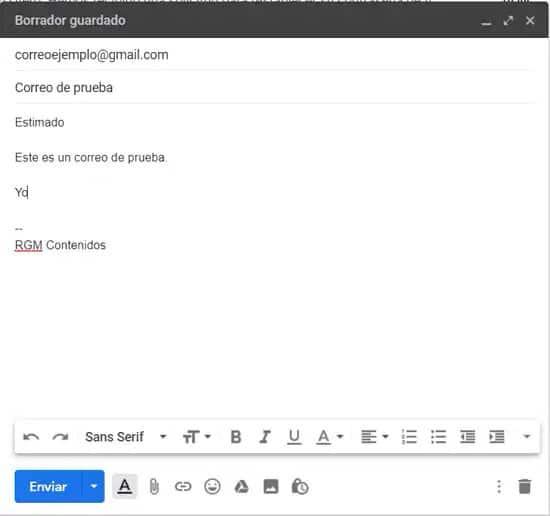 Añadir emojis y adjuntos en correo de Gmail