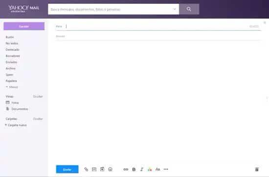 Crear correo nuevo en Yahoo Mail
