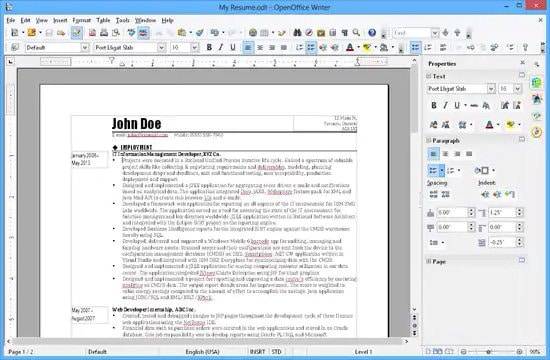 Editar archivo Docx con OpenOffice