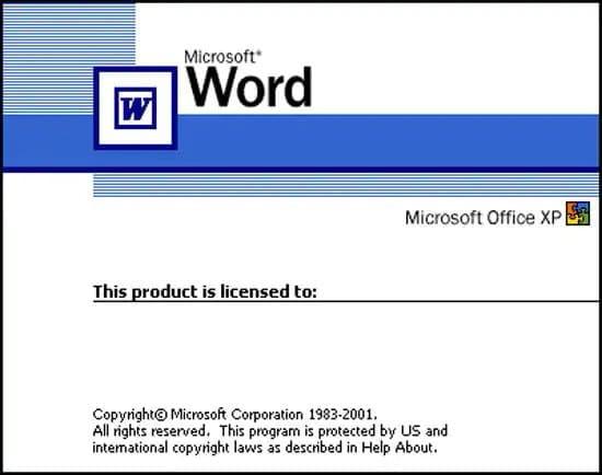 Versiones del programa Word