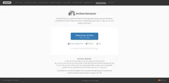 Descomprimir archivo rar con Archive Extractor