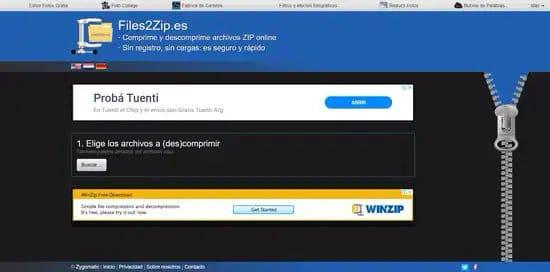 Descomprimir archivo rar con Files2zip