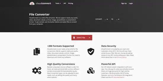 Descomprimir archivo rar con CloudConvert